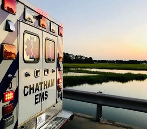 Lewis received his EMT certification in 1982, his paramedic license in 1986, and became a national registered paramedic in 1994. (Photo/Chatham Emergency Services)