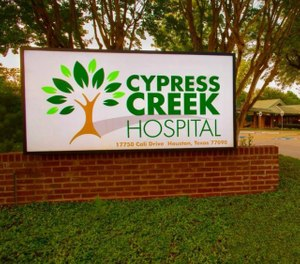 Officials said the ambulance had been left idling outside Cypress Creek Hospital, where the man was a former patient. (Photo/Cypress Creek Hospital)