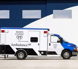 New-look ambulances are expected to debut in Mankato on April 15. (Photo/Mayo Clinic)