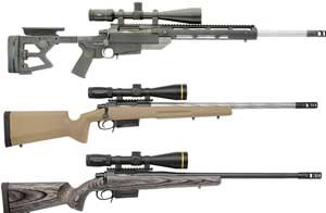 The M2012 is available in three models, all of which feature .308 Winchester chambers and one with an optional .260 Remington chamber.