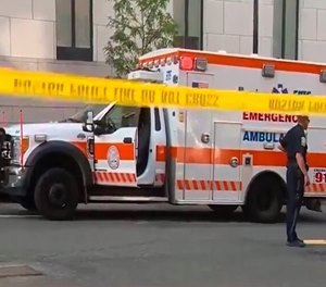 The ambulance had picked Tejeda up in East Boston and was taking her to Massachusetts General Hospital for a wellness evaluation when prosecutors said she became agitated that she was being taken to the hospital and attacked the EMT. (Photo/Boston EMS)