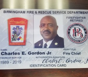 Birmingham Fire and Rescue Service Chief Charles Gordon will retire effective Dec. 28 after 30 years with department. (Photo/Birmingham Fire and Rescue Service Facebook)