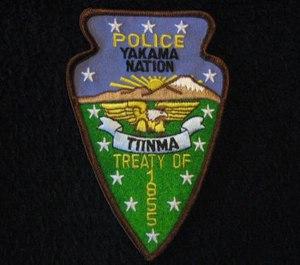 A patch for the Yakama Nation Police near Toppenish, Washington.