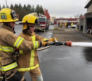 Knowing your nozzle gives you an edge over your enemy in a fire attack. (Photo/Tualatin Valley Fire and Rescue)