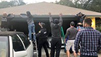 Fla. officers decorate home of injured officer for Christmas