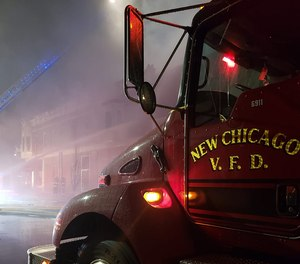 New Chicago firefighters were joined by personnel from Hobart, Lake Station, Portage, South Haven, Merrillville and Lake Ridge.