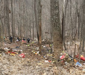 Three people were killed Tuesday in a medical helicopter crash, according to officials. (Photo/Ohio State Highway Patrol)