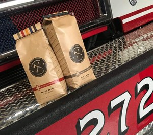 The company sells four blends from single-roasted Colombian Excelso: Rescue Roast, Bubba Brew, Bury Up Black and Back the Blue. (Photo/Fire Grounds Coffee Co.)