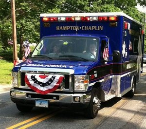 The ambulance corps statement noted this course of action, like all the other ones taken by the service, was made in the best interest of the community. (Photo/Hampton-Chaplin Ambulance)