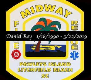 Daniel Roy, 29, who was a firefighter for Midway for two years, was in a wreck in Myrtle Beach and succumbed to injuries on Friday.