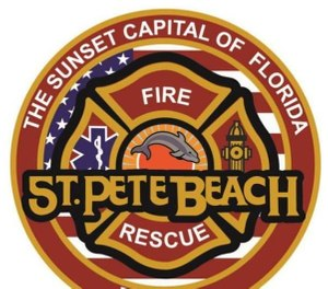 A massive water rescue was launched Wednesday to pull eight people — five swimmers and three firefighters — out of a dangerous rip current in the Gulf of Mexico. (Photo/St. Pete Beach Fire Rescue)