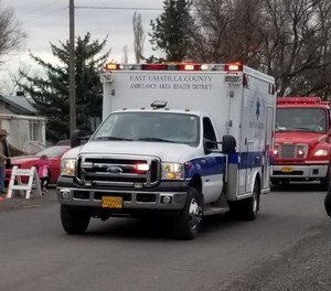 The East Umatilla County Ambulance Area Health District is one of four rural Oregon agencies seeking to merge, a move that officials say would improve the level of service in their region. (Photo/East Umatilla County Rural Fire Protection District Facebook)