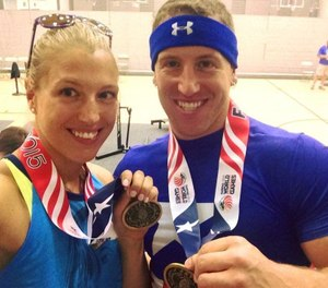 Sara and Erik Shisslak competed as a team for many United States Police & Fire Championships. (image courtesy of Sara Shisslak)