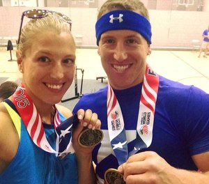 Sara and Erik Shisslak competed as a team for many United States Police & Fire Championships.