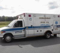 Police: Man punched out ambulance windows, jumped out of rig, made threats