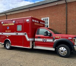 The two ALS medic teams and vehicles will be available to respond to 911 medical calls. (Photo/Fredericksburg Fire Department)