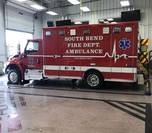 A South Bend firefighter was suspended for 10 days after showing up three hours late for work, causing a medic rig to be put out of service. (Photo/South Bend Fire Department Facebook)
