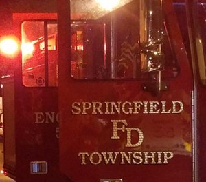 Three firefighters at the Springfield Township Fire Department have been quarantined after finding out through social media that a patient they had transported had died from COVID-19. (Photo/Springfield Twp Fire Department Facebook)