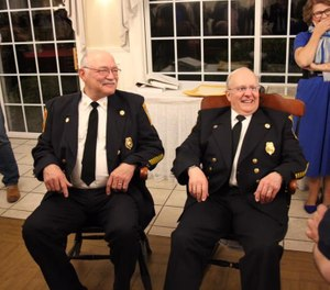 Don Antigiovanni and Stephen Jones both recently celebrated 50 years of volunteer service with the Farmington Volunteer Fire Department. (Photo