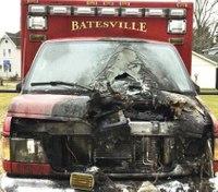Officer, 4 firefighters suffer smoke inhalation in ambulance fire