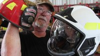Iowa firefighters try out Euro-style fire helmets