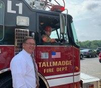 Ohio fire department helps boy's Make-A-Wish dream come true