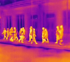 One of the big advantages of thermal  vision is that it doesn't require any light for it to operate. (image courtesy of FLIR)