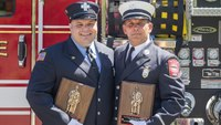 2 Mass. FFs honored for saving man from burning building