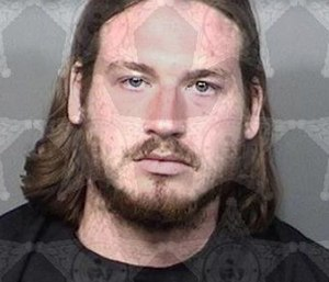 Scott Sampson was arrested after crashing into an ambulance while intoxicated with his infant son inside the vehicle. (Photo/Brevard County Sheriff's Office)