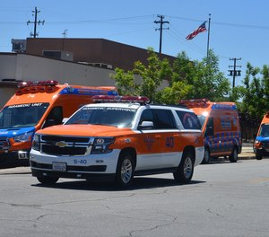 The County of Kern EMS Department requested additional help from Hall Ambulance following the earthquake. (Photo/Hall Ambulance Service Inc.)