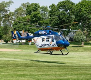 Two of the crash victims were taken by Flight for Life helicopters to Froedtert Hospital in Wauwatosa and one was taken to Froedtert by a ground ambulance. (Photo/Flight For Life Transport System)