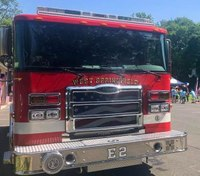 Firefighters use engine to pull apart wrecked car, extricate driver in crash