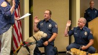 Colo. FD swears in 2 service dogs to assist with mental health