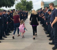 Phoenix firefighters escort daughter of fallen FF to first day of school
