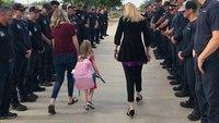 Phoenix firefighters escort daughter of fallen FF to first day of school