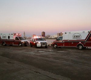 East Baton Rouge Parish EMS' virus strike team of 22 paramedics responds exclusively to calls involving confirmed or suspected COVID-19 cases. (Photo/East Baton Rouge Parish EMS Facebook)