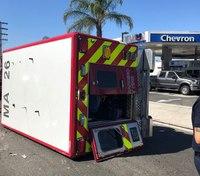 2 Calif. first responders injured in rig crash