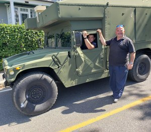 First responders will now also use the Humvee to respond to emergencies during floods and other severe weather conditions. (Photo/Nahant Emergency Management Agency)