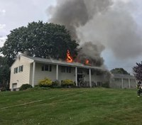 Conn. firefighter injured after lightning sets house on fire