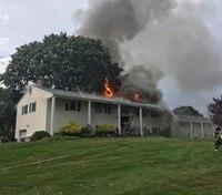 Conn. firefighter injured after lightning sets house on fire