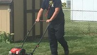 Ohio FF-paramedics finish mowing lawn for owner taken to ER