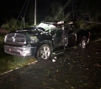 NC firefighter injured when tree hits vehicle