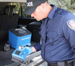 Portable chemical identification devices can tell officers what they are dealing with to enhance their ability to investigate possible narcotics possession without putting their health at risk. (image/Smiths Detection)