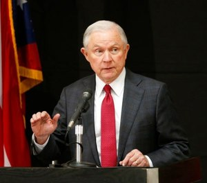 In this Aug. 2, 2017 file photo, Attorney General Jeff Sessions speaks in Columbus, Ohio. Sessions moved Thursday, Aug. 3, 2017, to again punish so-called sanctuary cities, this time threatening to deny federal crime-fighting resources to four cities beset by violence if they don't step up efforts to help detain and deport people living in the country illegally. (AP Photo/Jay LaPrete, File)