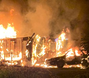 While battling the fire, one firefighter was injured after sustaining a fall, and was transported to the hospital. The injury did not appear to be life-threatening.