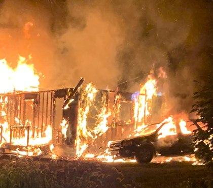 Va. firefighter taken to hospital following fall at house blaze