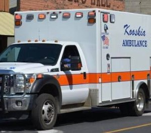 A proposed bill in Idaho would allow for the formation of independent taxing districts for communities across city and county lines served by the same ambulance service. The bill would help resolve conflicts such as that in Kooskia, where city taxpayers support the ambulance service that responds to outside communities with larger populations. (Photo/Kooskia Emergency Services Facebook)