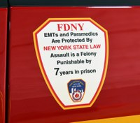 FDNY EMT attacked by handcuffed suspect in back of rig