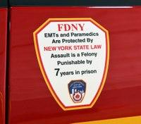 FDNY EMT attacked by handcuffed suspect inback ofrig