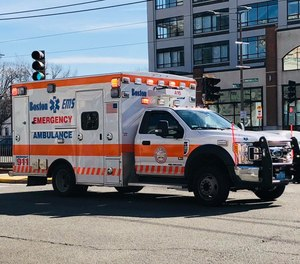 Boston's EMS union has sent out a letter blasting Faulkner Hospital for not warning EMS providers that their sub-station would be used as a coronavirus testing site. Thirteen cases of the virus have been confirmed in Massachusetts. (Photo/Boston EMS Facebook)